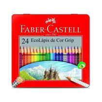 Lapis de Cor Faber Castell Ecolapis Grip Triangular Lata 24 Cores 121024LT -