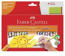Lápis de cor faber castell jumbo com 24 unidades + apontador -
