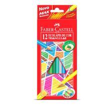 Lapis de cor Faber Castell Triangular 12 cores 120512/2 -