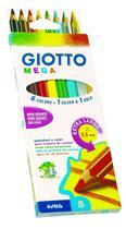 Lápis de Cor Giotto  Mega  008 Cores  225400 -