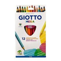 Lápis de Cor Giotto Mega 12 Cores -