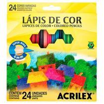 Lápis De Cor Hexagonal 24 Cores Acrilex -