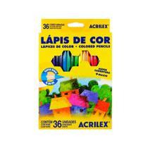 Lápis de Cor Hexagonal Acrilex 36 Cores 09626 -