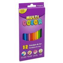 Lapis de cor inteiro 12 cores faber multicolor -