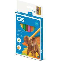 Lapis de COR Jumbao CIS Plastic Sextavado 12 Cores - Sertic
