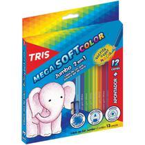 Lapis de COR Jumbao Mega SOFT Color 12CORES Triang - Planeta Criança