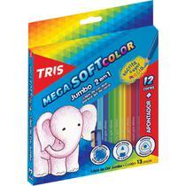 Lapis De Cor Jumbao Mega Soft Color 12cores Triang Summit Pc -