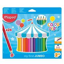 Lapis De Cor Jumbo 24 Cores Maped Color Peps -