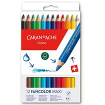 Lápis de Cor Jumbo Aquarelável 12 Cores Caran dAche -