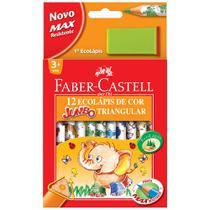 Lapis de cor jumbo c.12 triang-12.3012ap - Faber Castell