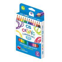 Lápis de cor Jumbo Criatic 12 cores - 76.3700 - Cis -