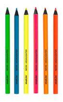 Lápis de Cor  Jumbo Neon Marca-Texto MOLIN -