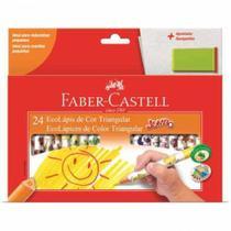 Lapis de cor jumbo triangular com 24 cores - 123024ap - Faber Castell