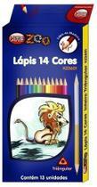 Lapis de cor kaz kz3601 - c/ 14 cores -