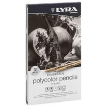 Lapis de Cor Lyra Polycolor Rembrandt 12 Tons de Cinza -