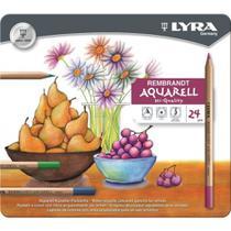 Lapis de cor Lyra Rembrandt Aquarell caixa c/24 cores -