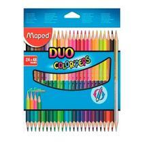 Lápis de Cor Maped 24/48 - Duo Color' Peps -