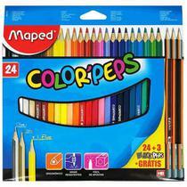 Lapis de Cor Maped Color Peps 24 cores com 3 lapis HB -