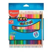Lapis De Cor Maped Color Peps duo 24 Lapis/48 Cores Bicolor -