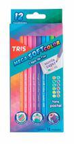Lapis de cor mega soft 12 cores pasteis tris - 687841 -