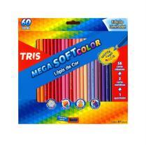 Lapis de cor Mega Soft 60 Cores - Tris
