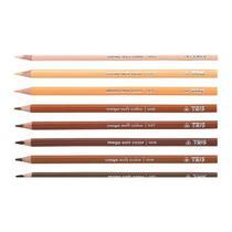 Lapis de cor mega soft c.12 cores tons de pele - 687735 - Tris