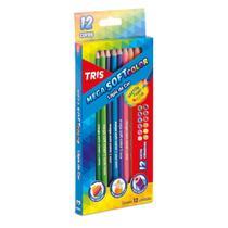 Lapis De Cor Mega Soft Color 12 Cores Tris -