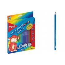 Lapis de Cor Mega Soft Color 24 cores e 1 Apontador Tris - 680224 -