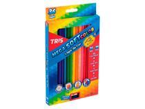 Lápis de Cor Mega Soft Color 36 Cores, Caixa c/ 36 Cores - Tris - 680255 -