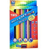 Lapis De Cor Mega Soft Color 36 Cores com 1 Metal/bicol Tris -
