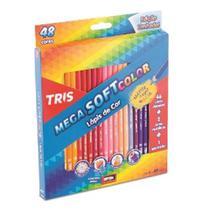 Lapis De Cor Mega Soft Color 48 Cores com Apontador Tris - Summit