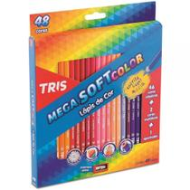 Lápis de Cor Mega Soft Color 48 Cores com Apontador Tris -