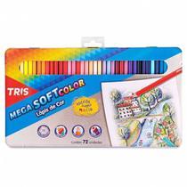 Lapis de Cor Mega Soft Color 72 Cores com Estojo Lata Tris -