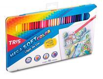 Lápis De Cor Mega Soft Color 72 Cores Em Lata  Tris -