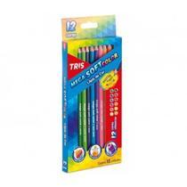 Lapis de cor mega soft color c/ 12 cores 684116 tris -