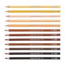 Lápis de Cor Mega Soft Color Tons De Pele - Tris