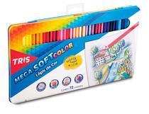 Lapis De Cor Mega Soft Color TRIS 72 Cores Estojo Metalico -