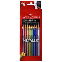 Lapis de Cor Metalico 10 Cores Faber Castell - Faber-Castell