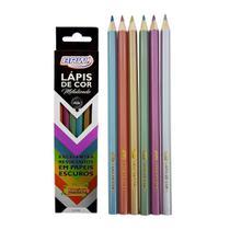Lápis De Cor Metalizado C/ 6 Cores - BRW -