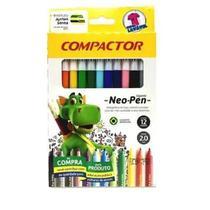 Lápis De Cor Neo-pen 24 Cores Compactor - Acrilex
