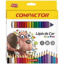 Lapis de cor neo pen madeira 2,9mm com 24 cores - compactor -