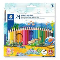 Lapis de cor noris club aquarelável 24 cores + pincel staedtler -