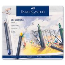 Lápis de Cor Permanente Goldfaber Estojo Metálico com 48 cores - Faber-Castell - Faber Castell