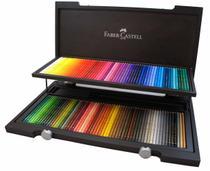 Lápis de Cor Polychromos Estojo Madeira com 120 Cores Ref.110013 Faber-Castell - Faber Castell