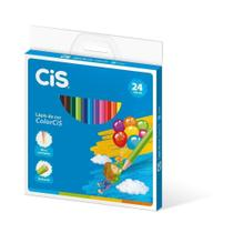 Lapis de Cor Redondo Colorcis 24 Cores Cis -