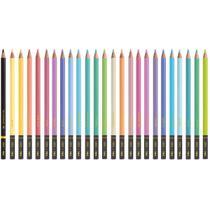 Lapis de COR Redondo TONS Pastel 24 Cores + 1 6B PT - Planeta Brinquedos