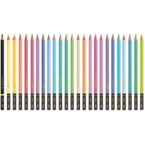 Lapis de COR Redondo TONS Pastel 24 Cores + 1 6B PT - Planeta Brinquedos -