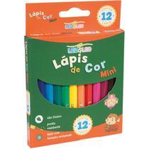 Lapis de cor sextavado 12 cores curto pct.c/12 - Leonora