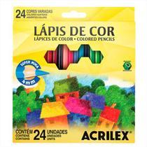 Lápis de Cor Sextavado 24 Cores Acrilex -