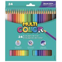 Lapis de Cor Sextavado 24 Cores Multicolor -